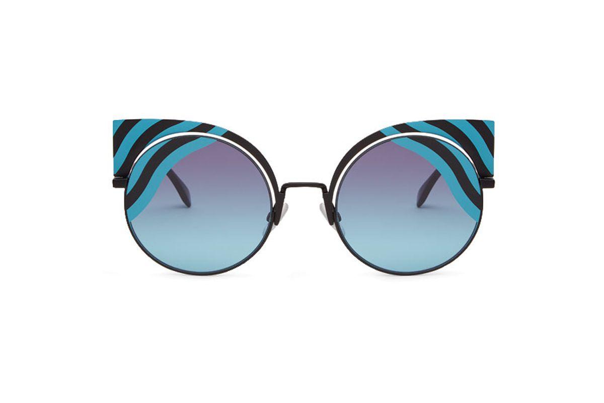 Hypnoshine Fashion Show Black Metal Sunglasses