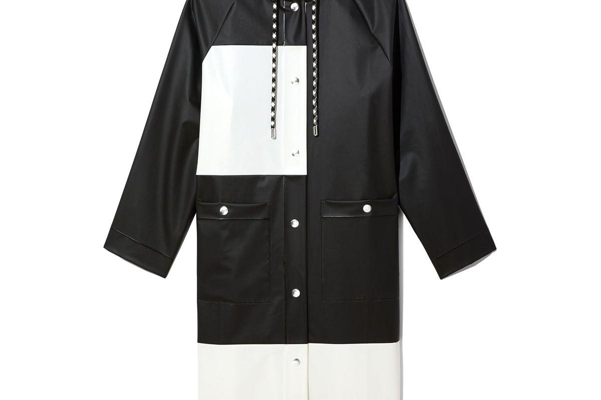 pswl colorblock long raincoat