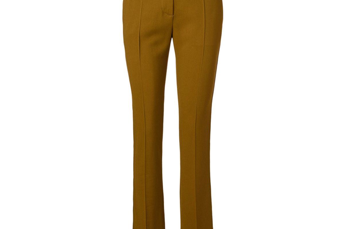 victoria beckham skinny pants with split hem