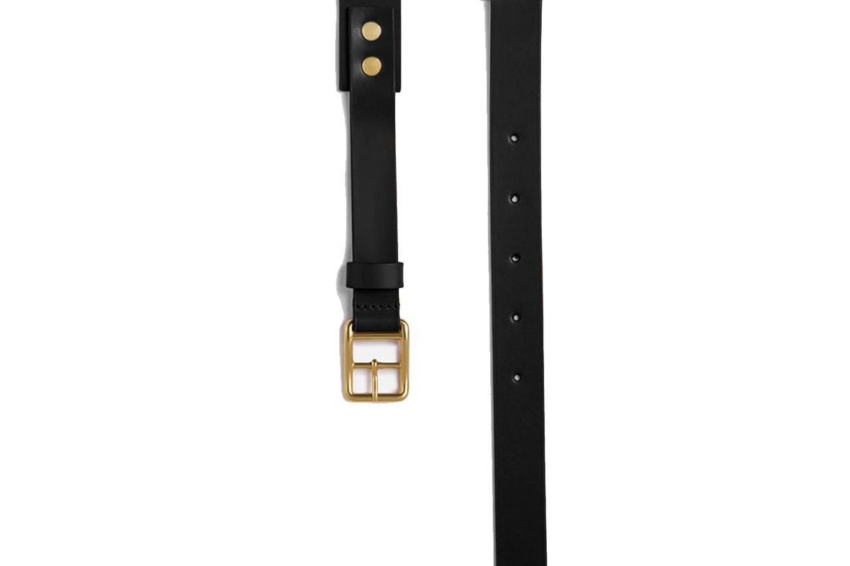 miansai skinny belt black leather