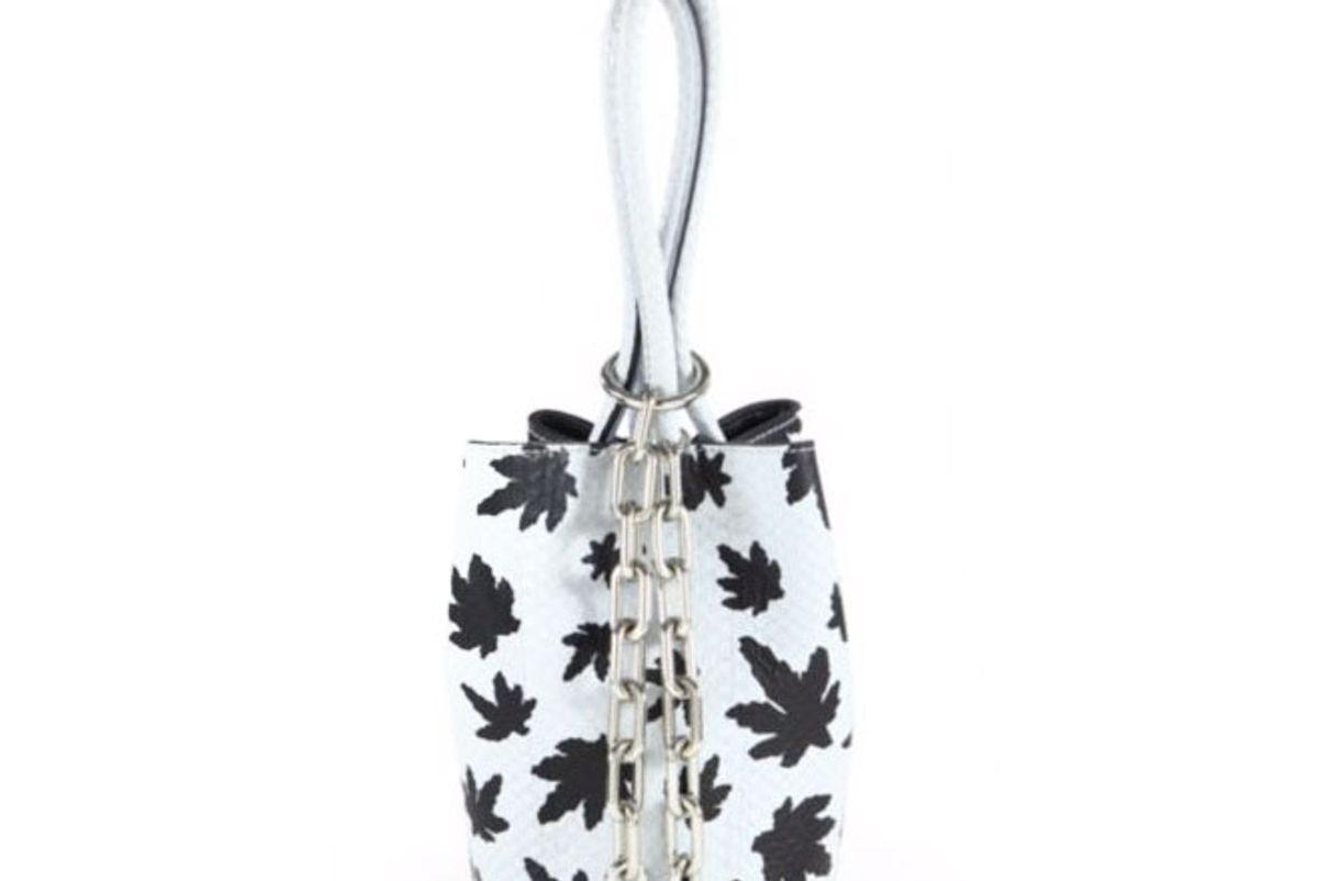 Roxy Mini Leaf-Print Landsnake Bucket Bag