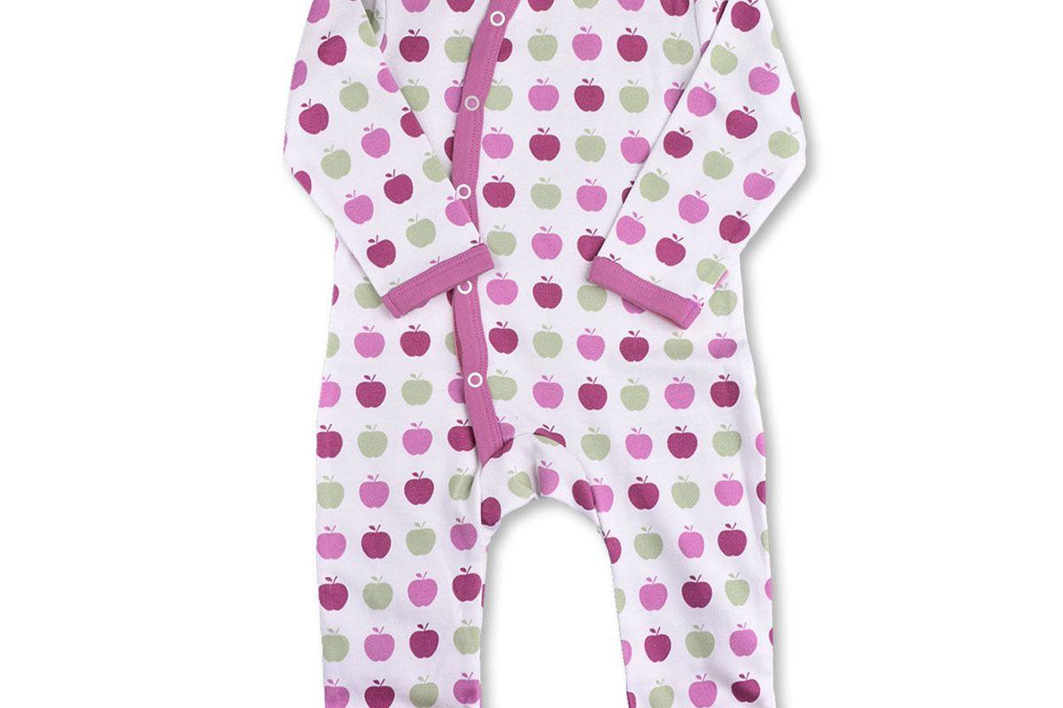 Apple Kimono Romper Multi Pink Organic Cotton
