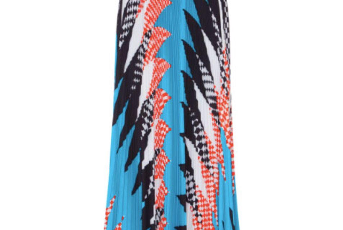 Acid Argyle Pleated Skirt