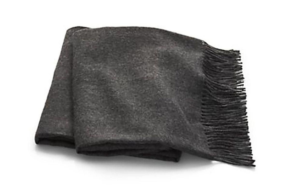 Wes Alpaca Wool Grey Throw
