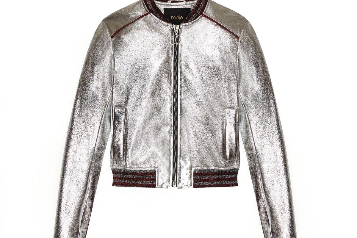 Bliss Metallic Leather Jacket