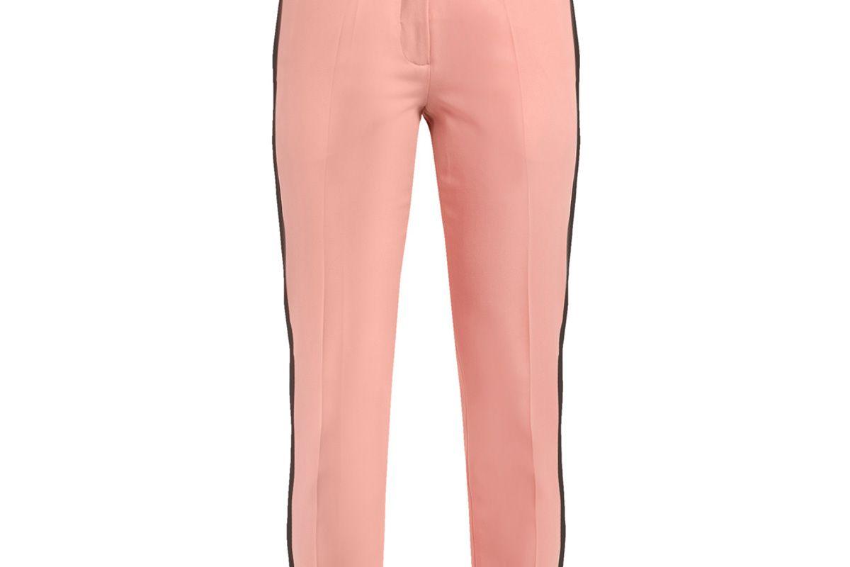 Aries side-stripe skinny wool cropped trousers