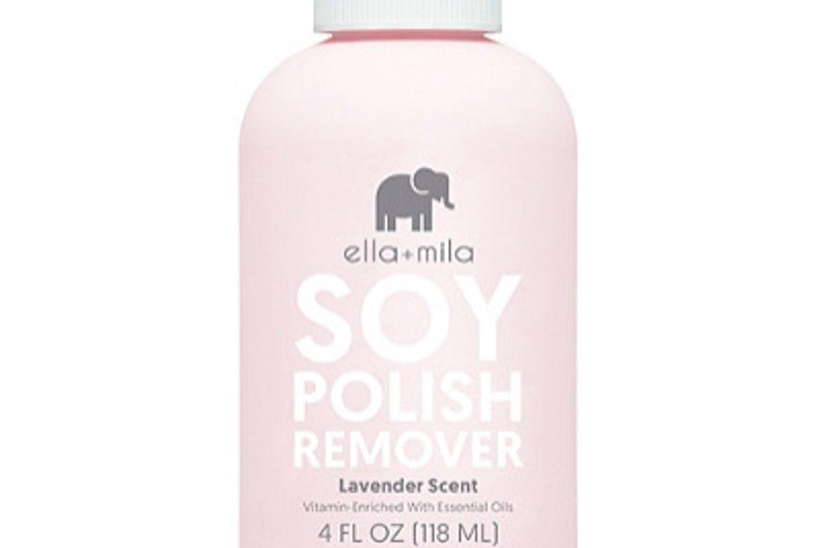 ella and mila soy nail polish remover