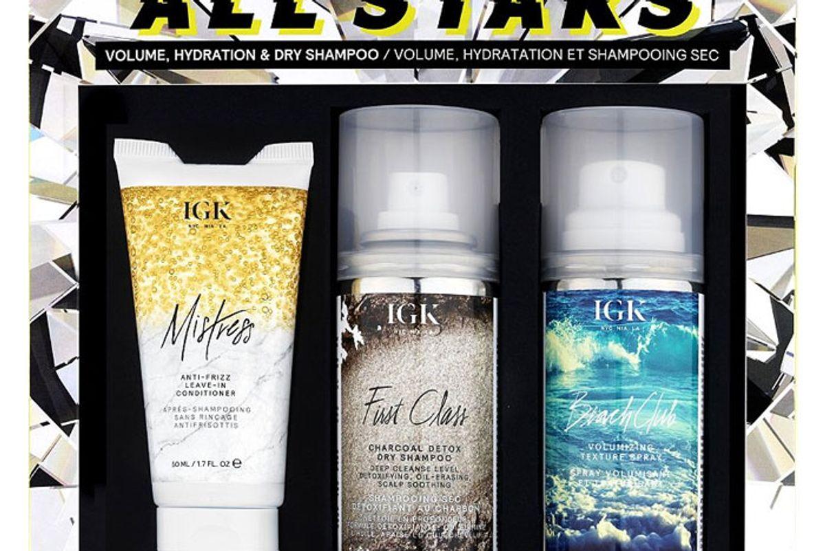 igk all stars volume hydration dry shampoo kit