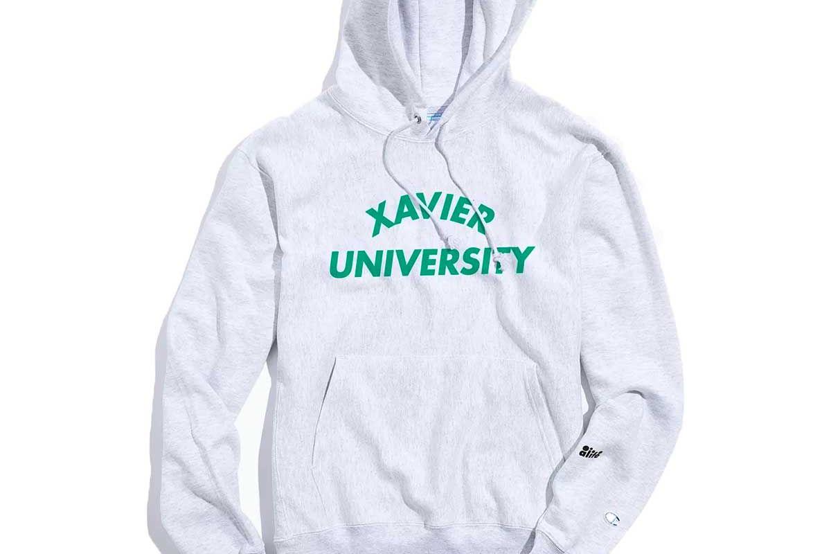 alife x champion xavier university hoodie sweatshirt