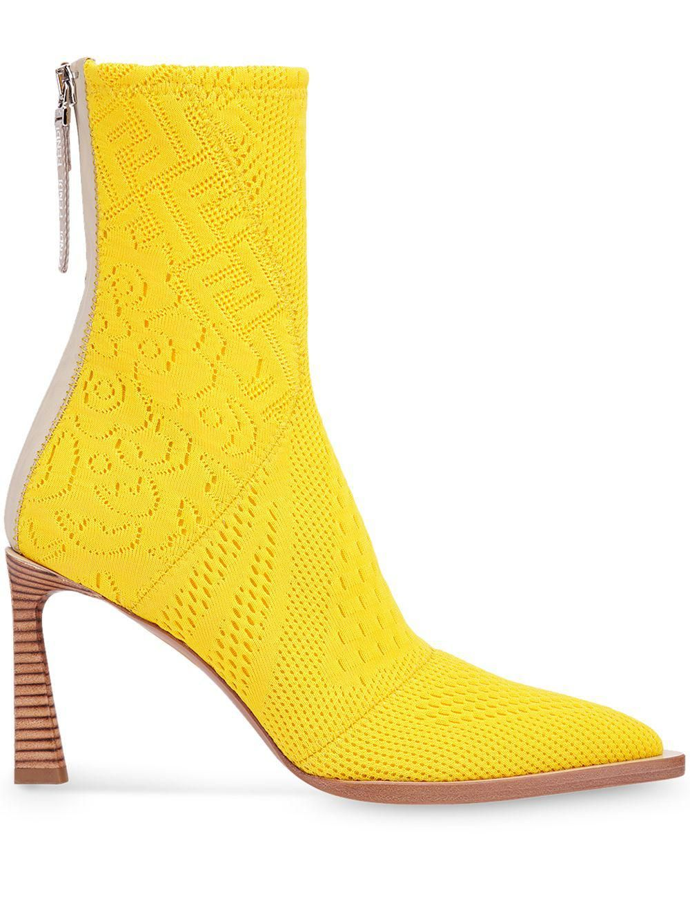Fframe Jacquard Pointed-toe Ankle Boots