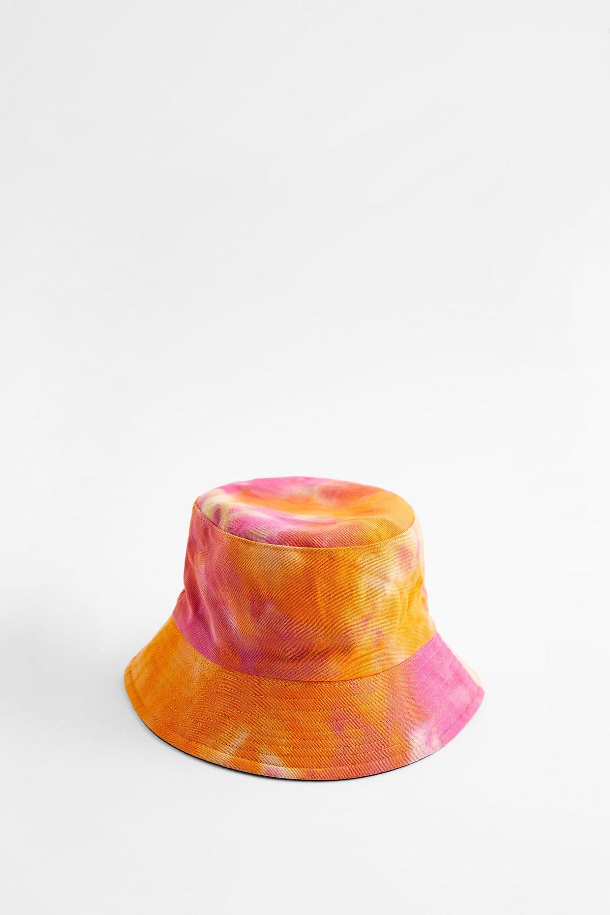 zara tie dye bucket hat