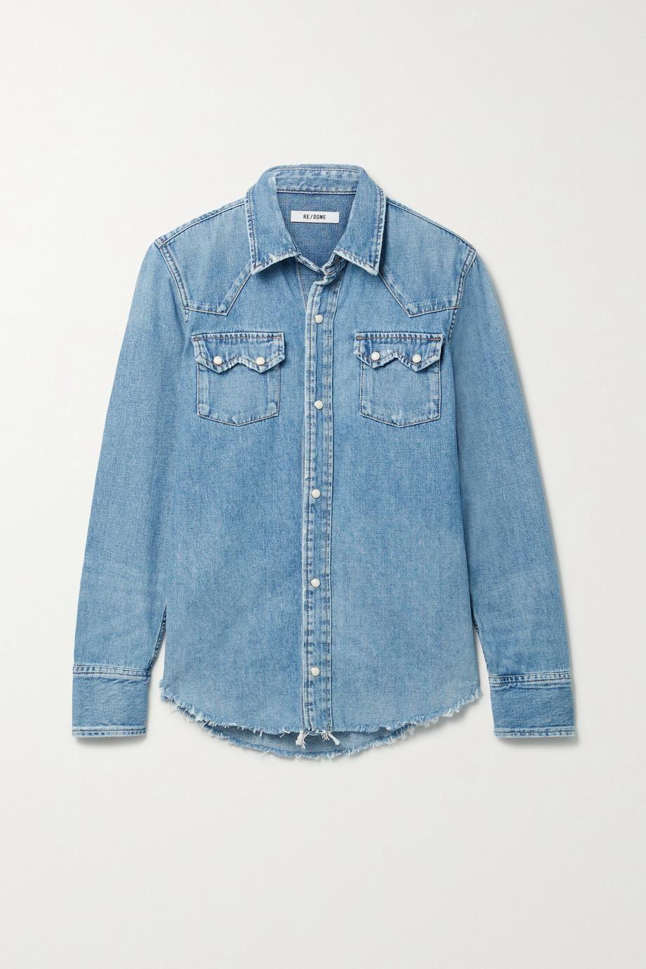 50s Frayed Denim Shirt