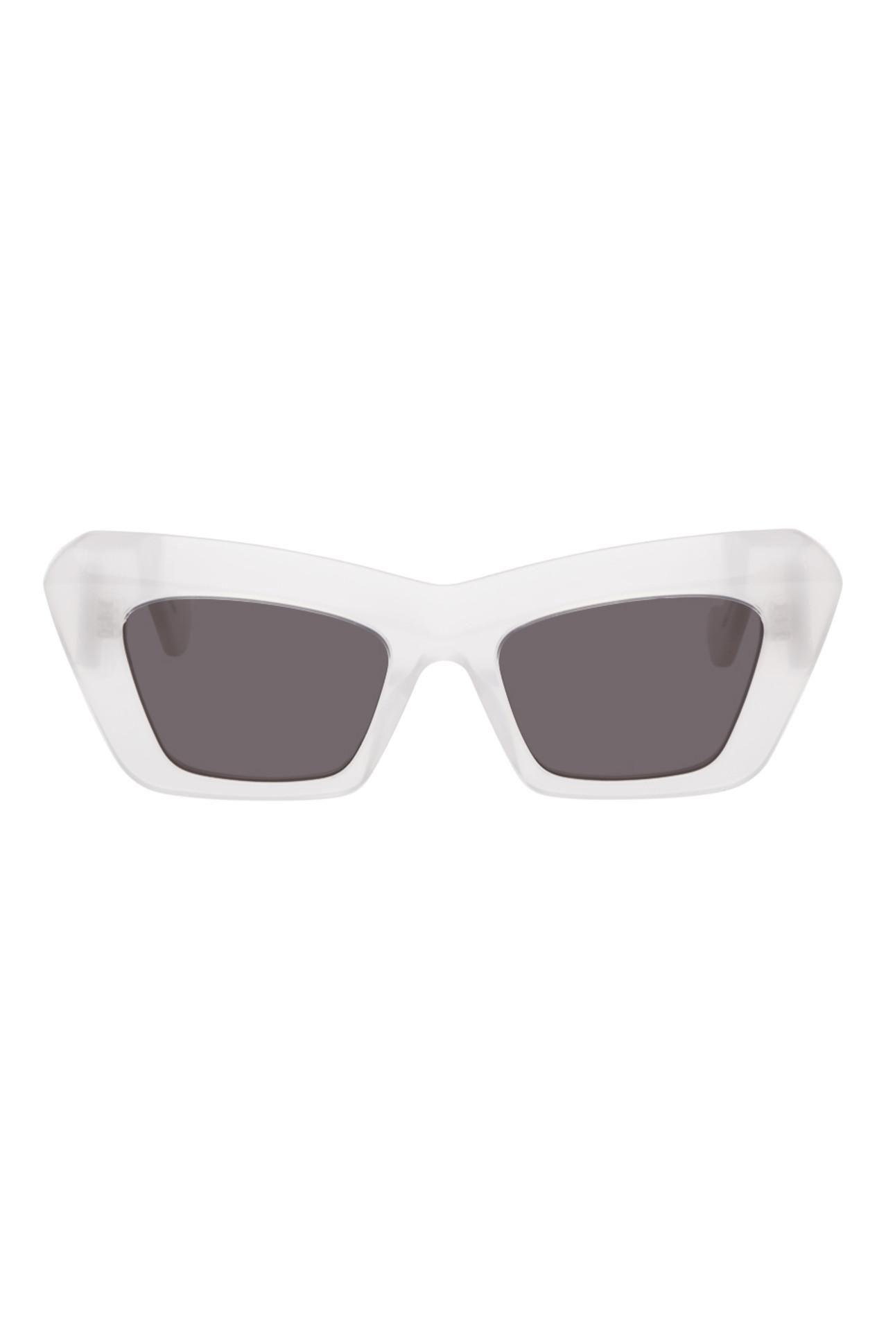 White Oversized Cat-Eye Sunglasses