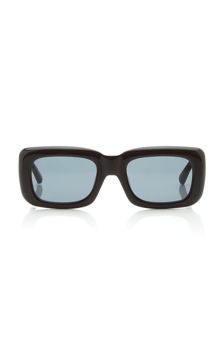 Marfa Square-Frame Acetate Sunglasses
