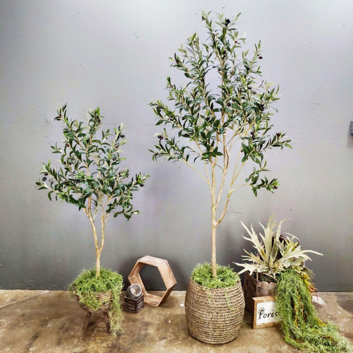 4 Foot, 6 Foot Artificial Olive Tree