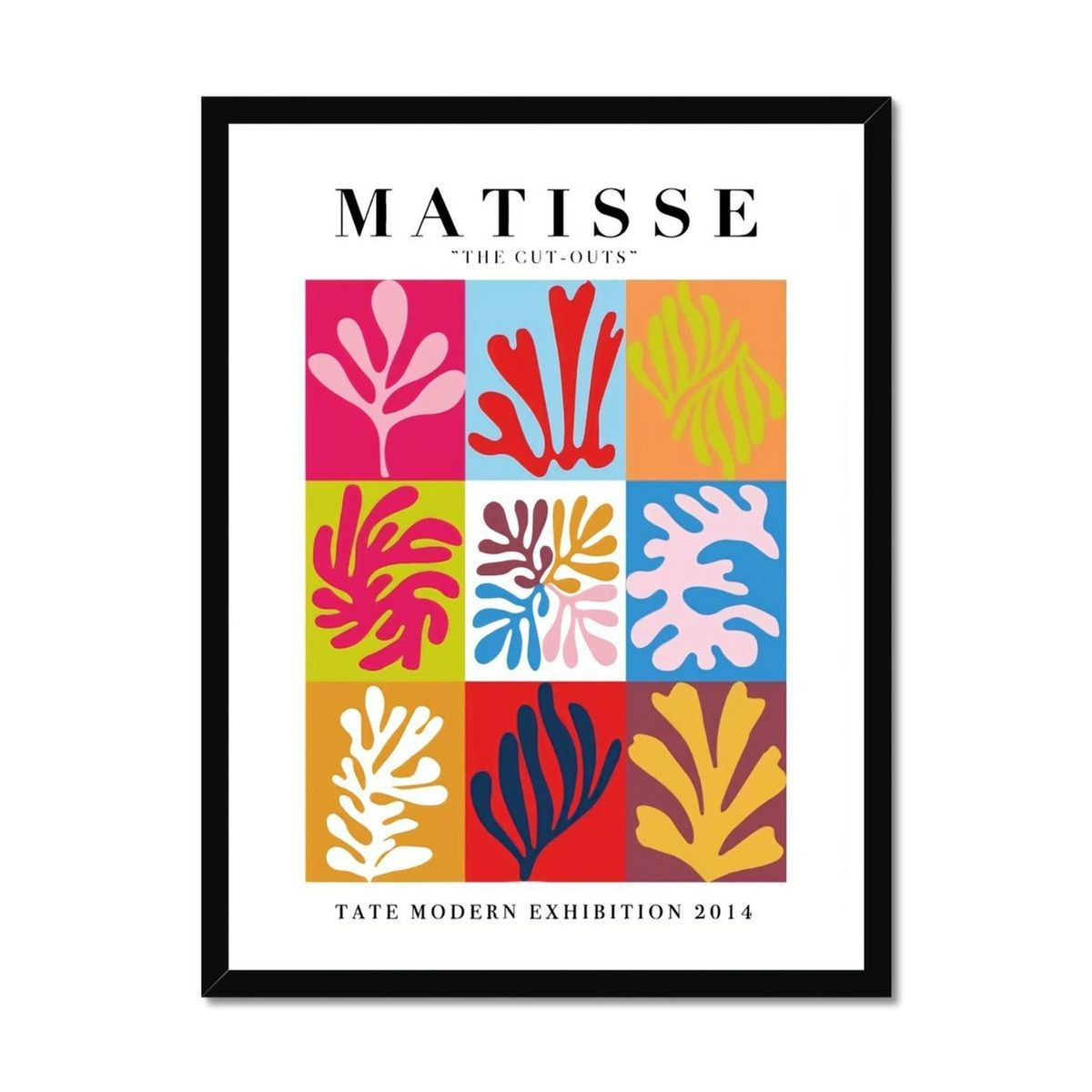luxury art frames matisse the cut outs framed print