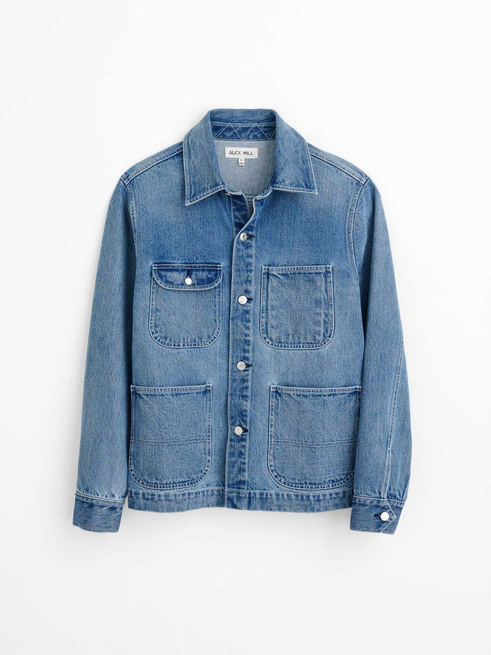 Work Jacket in Vintage Wash Denim