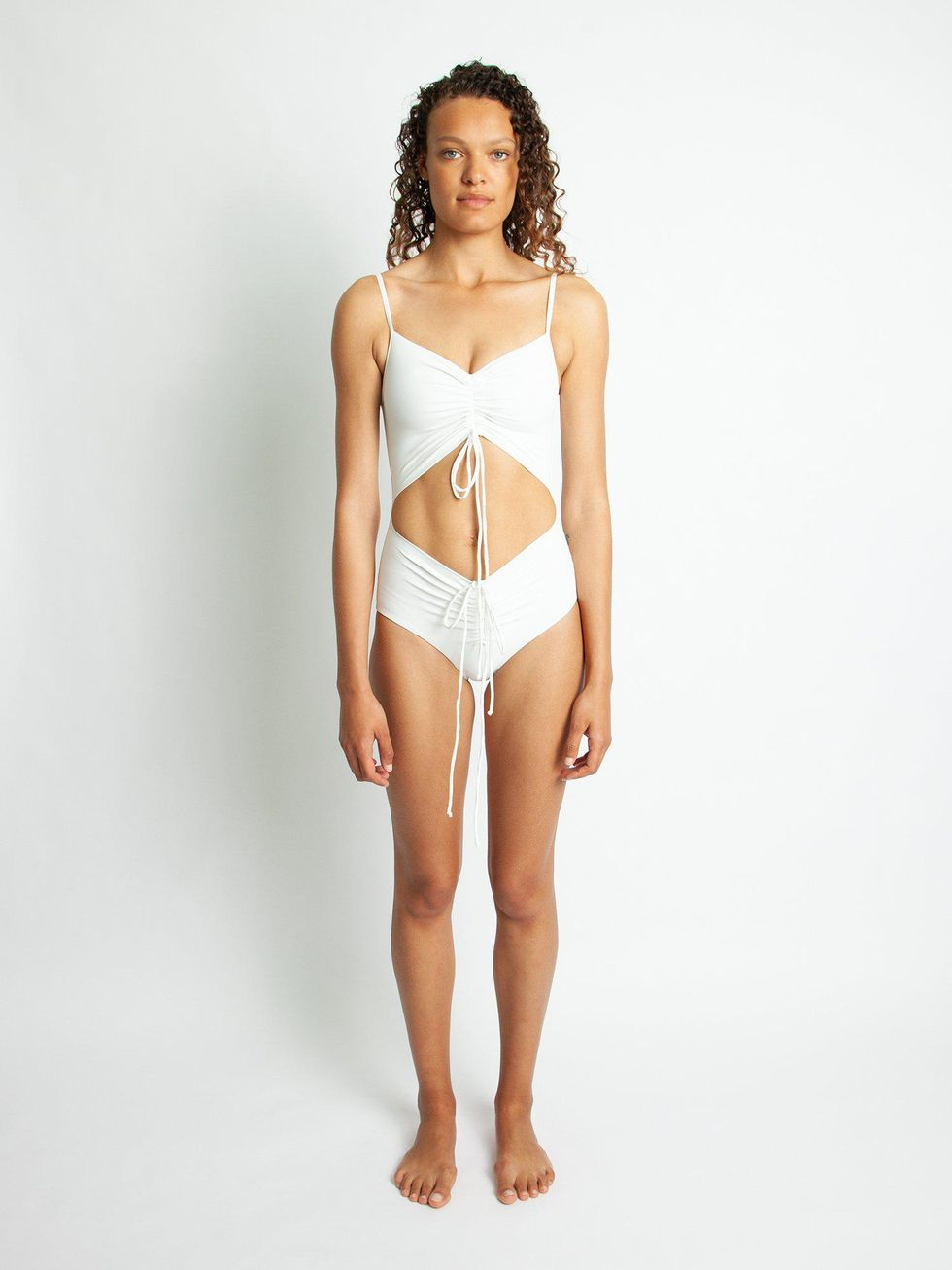 christopher esber ruched disconnect swimsuit