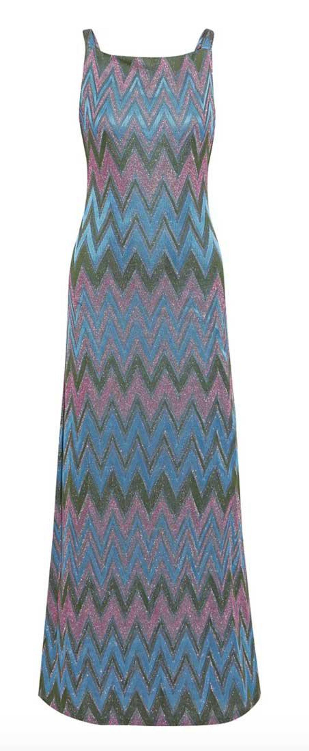 m missoni metallic crochet knit maxi dress