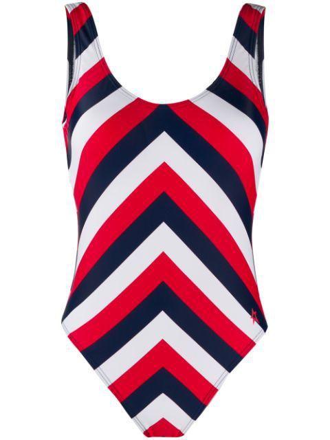 Chevron One-Piece Swimsuit