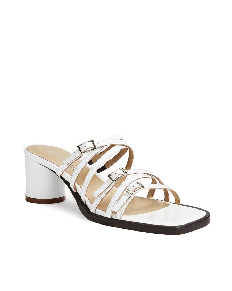 Jane White Patent Sandals