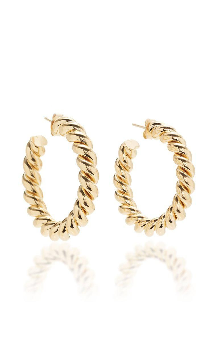 Small Gold-Plated Hoop Earring