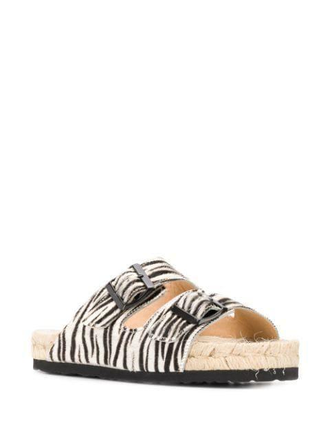 Nordic Zebra Print Sandals