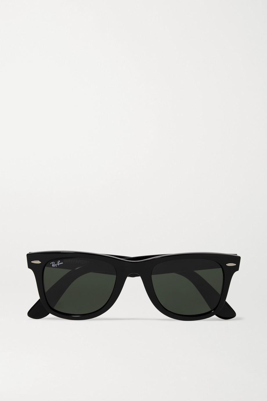 Wayfarer square-frame acetate sunglasses