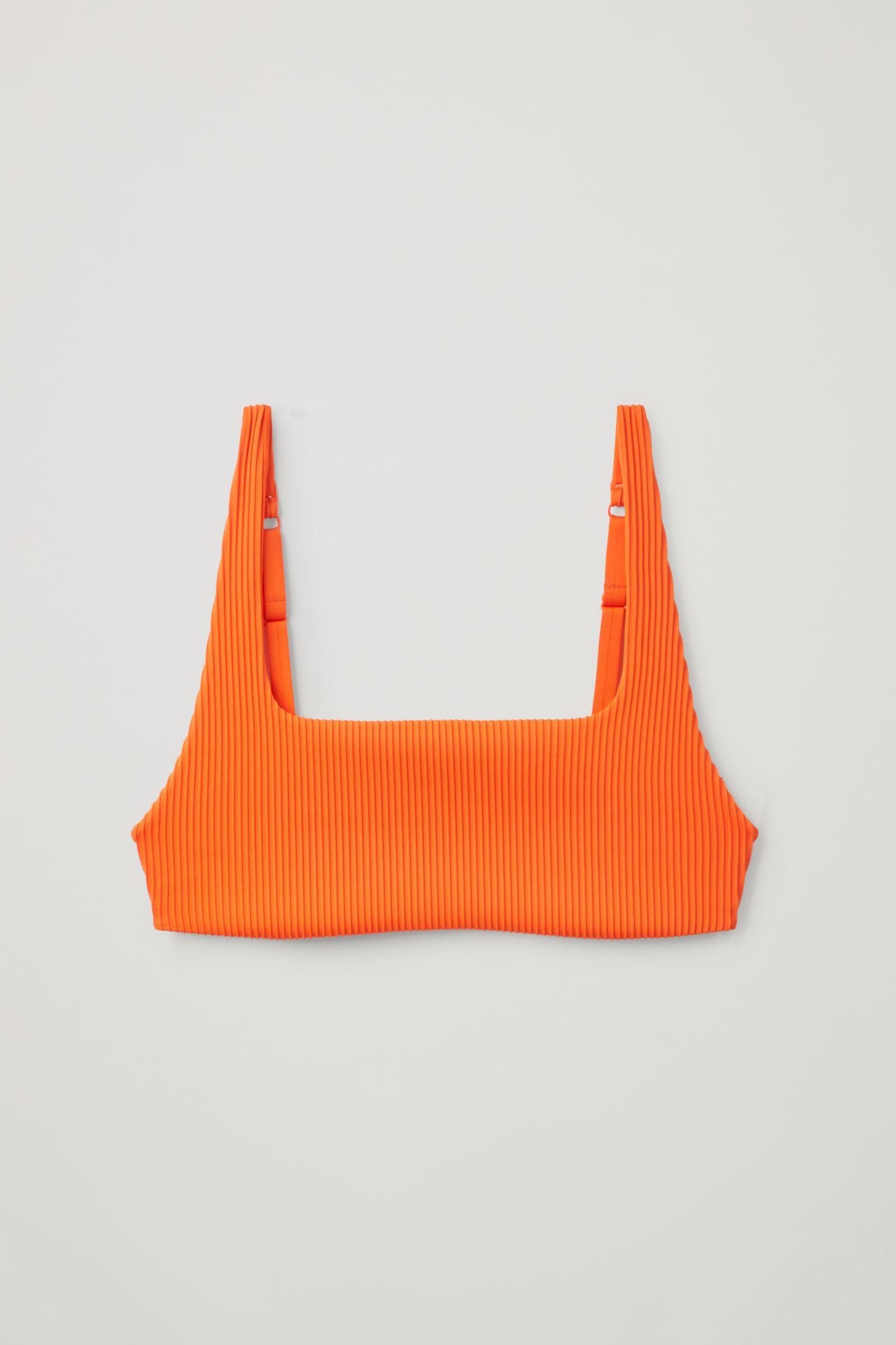 Square Neck Bikini Top Orange