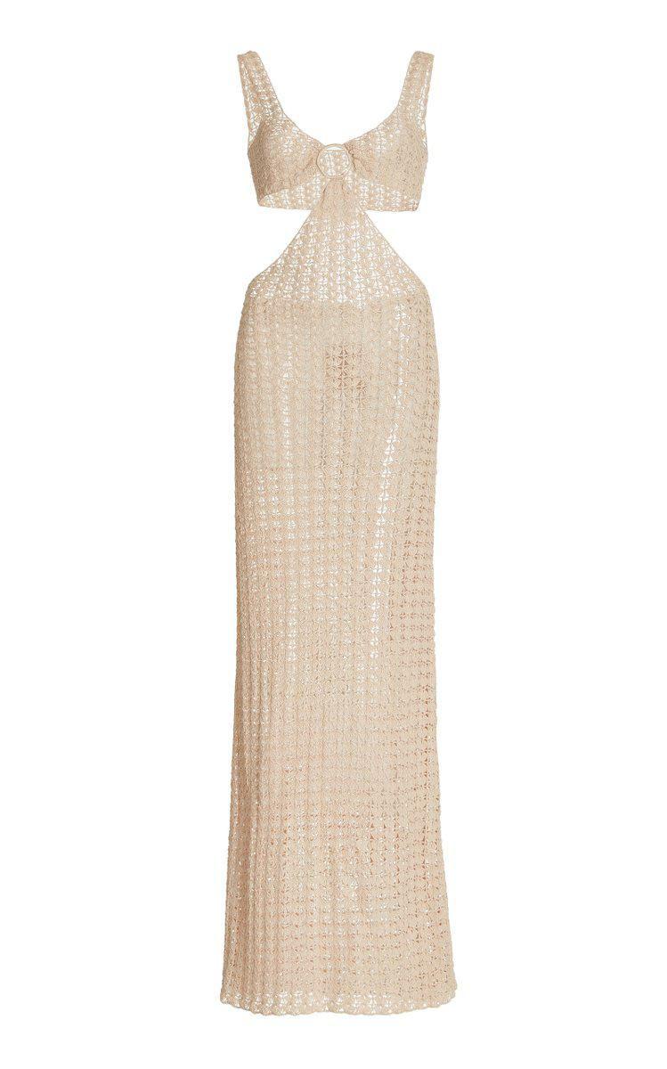 Tyra Cutout Crochet-knit Maxi Dress