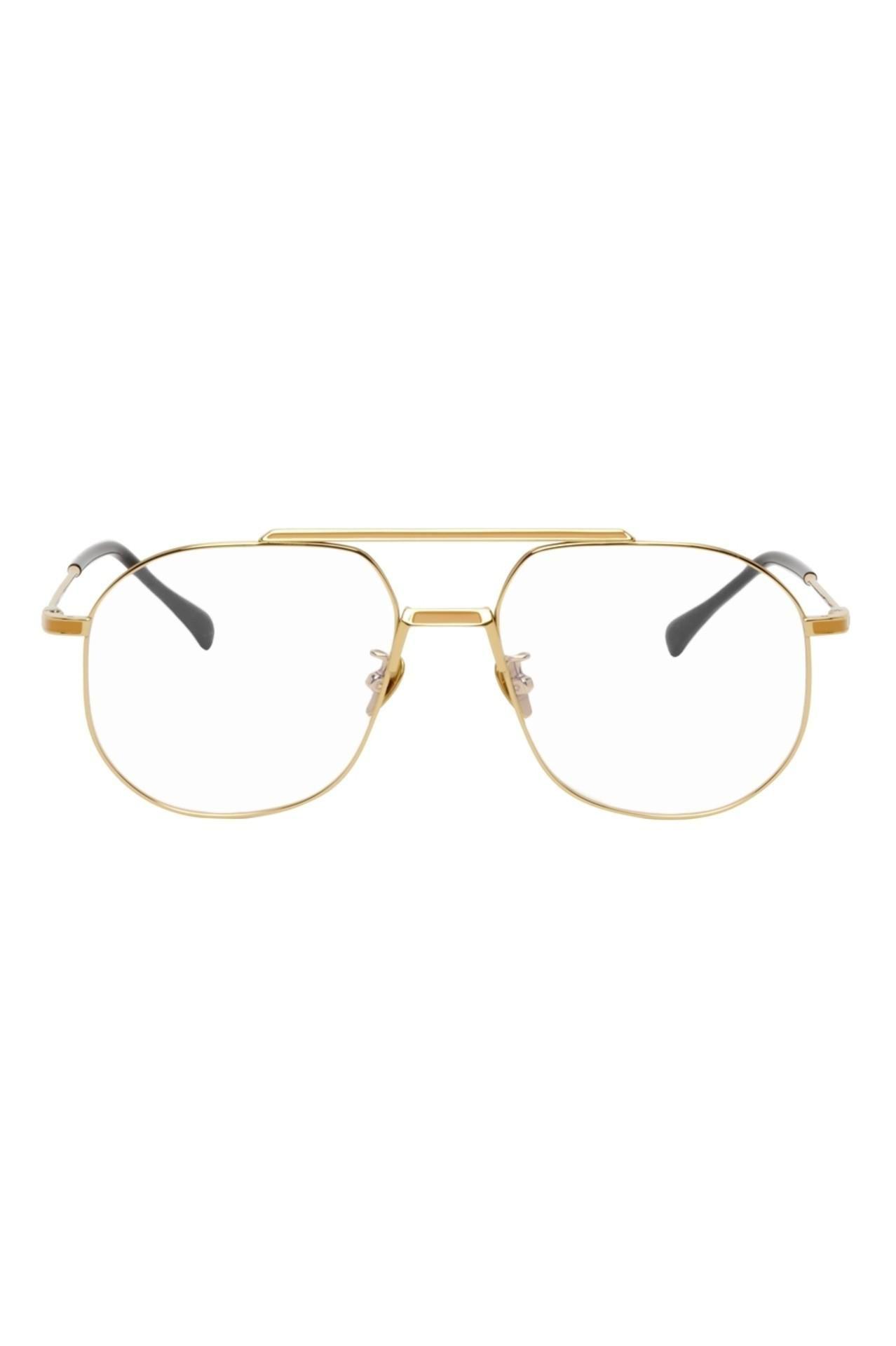 Gold Titanium Aviator Glasses
