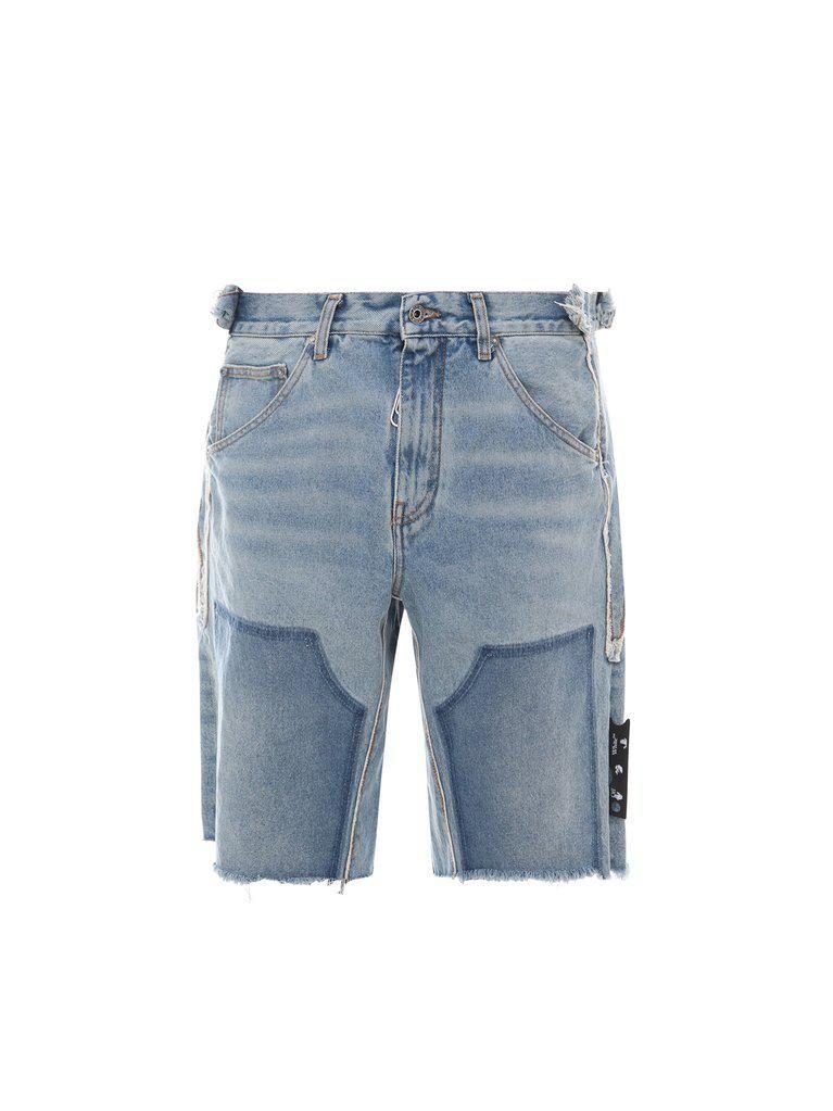 Reconstructed Carpenter Frayed Shorts
