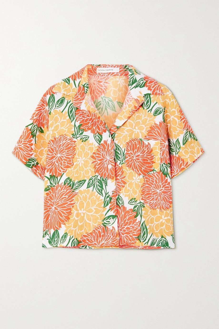 Deryn Floral Print Linen Shirt