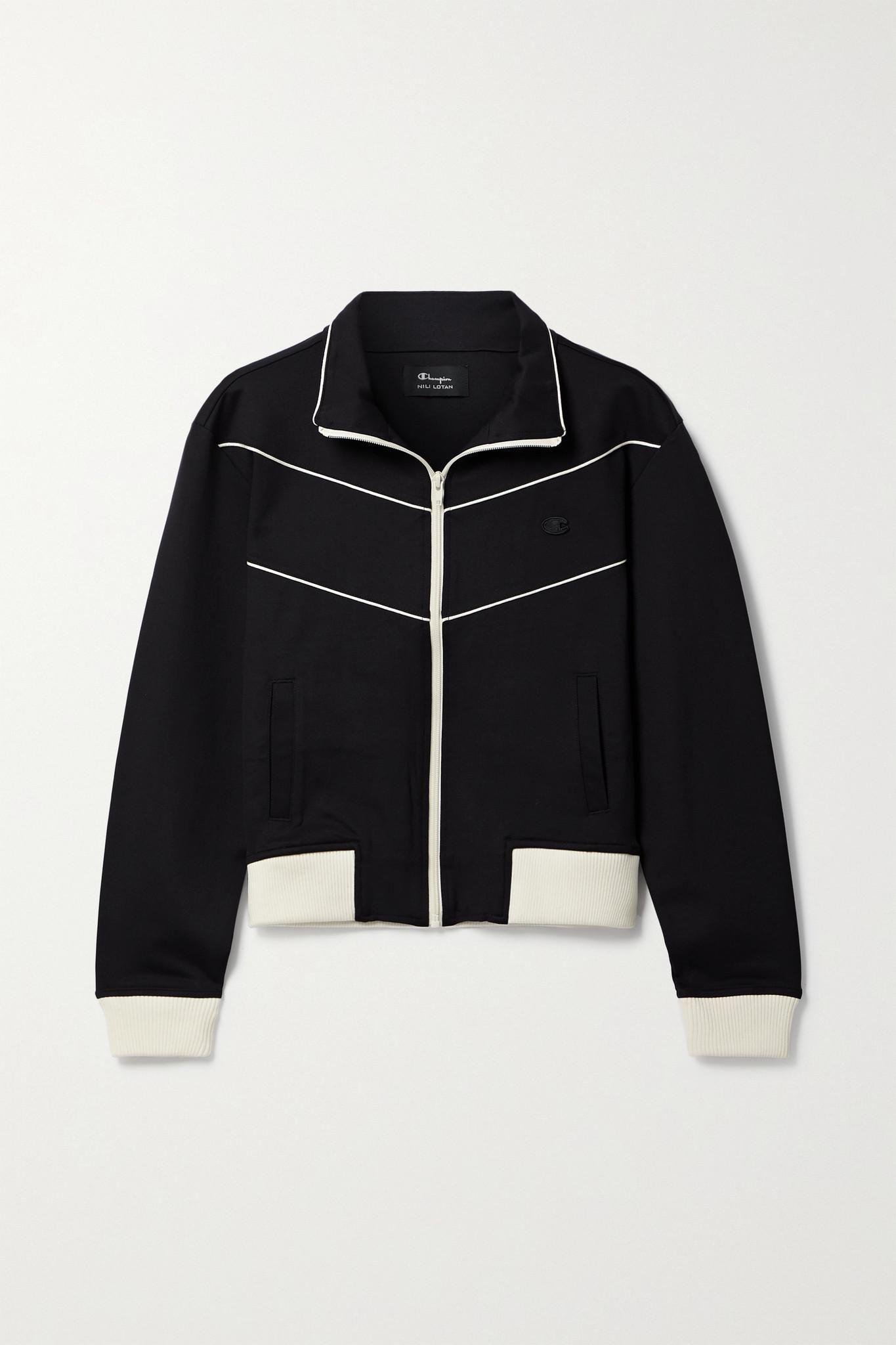 + Champion Appliqued Stretch Jersey Track Jacket