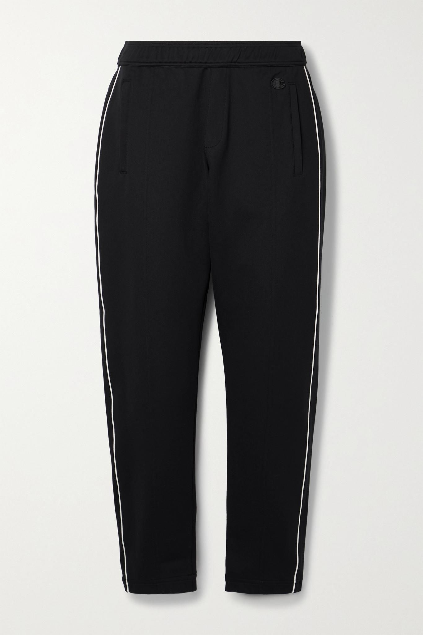 + Champion Appliqued Stretch Jersey Track Pants