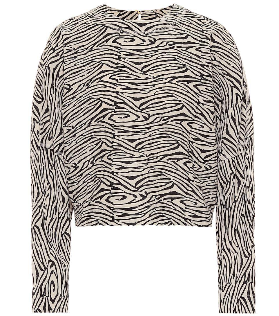 Louise Cropped Zebra-print Sweater