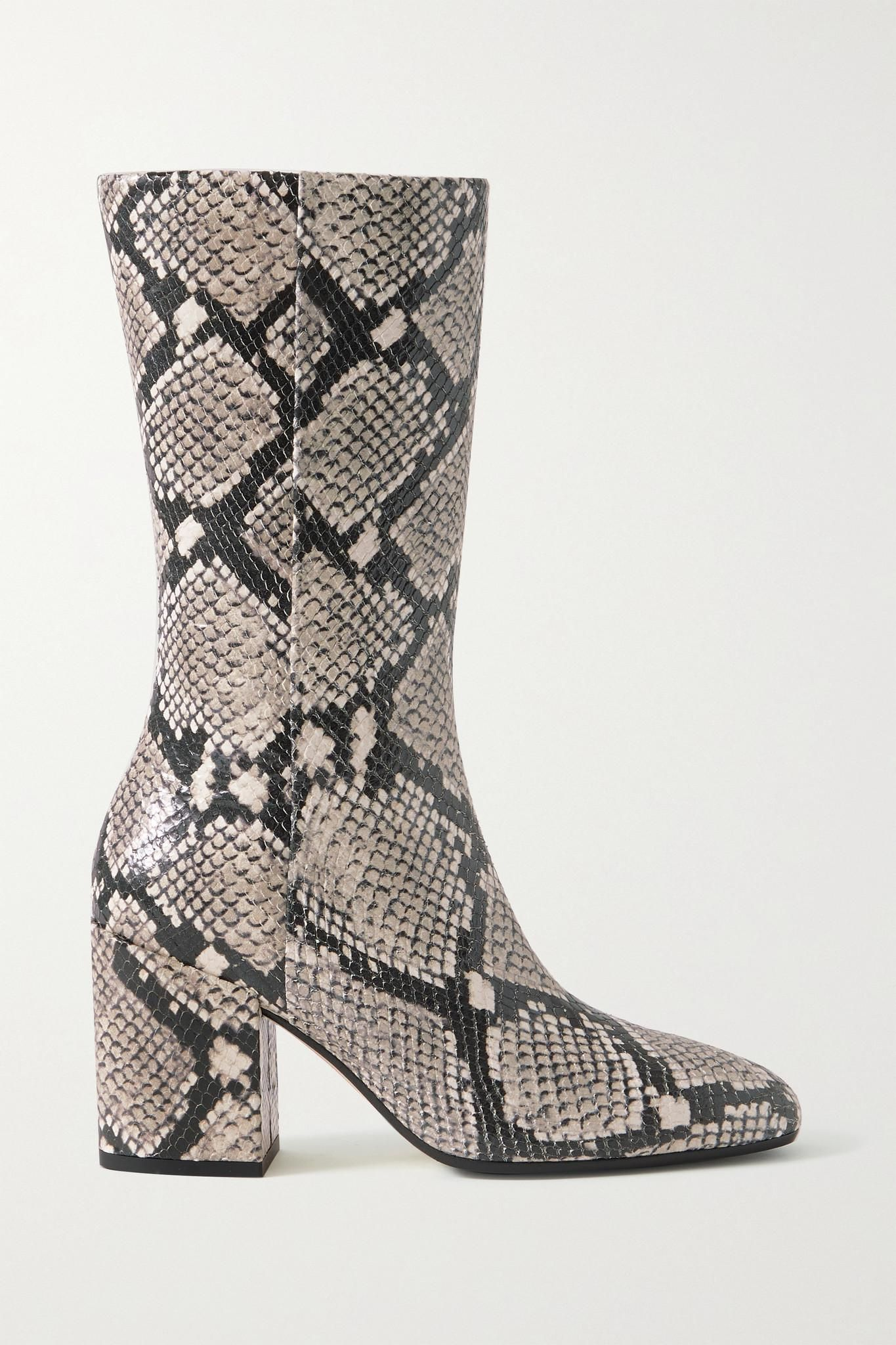 Lori Snake-effect Leather Boots