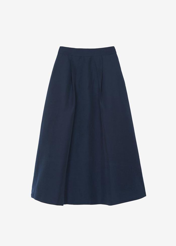 Atlas Pleated Midi Skirt