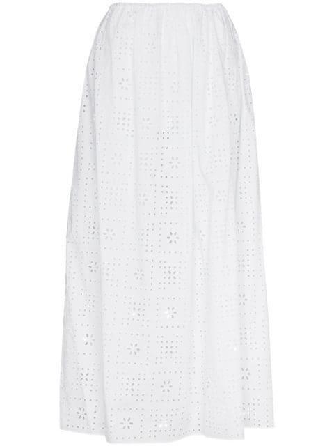 Broderie Anglaise Maxi Skirt