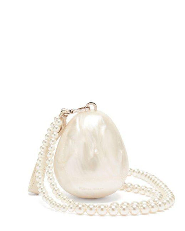 simone rocha faux pearl cross body bag