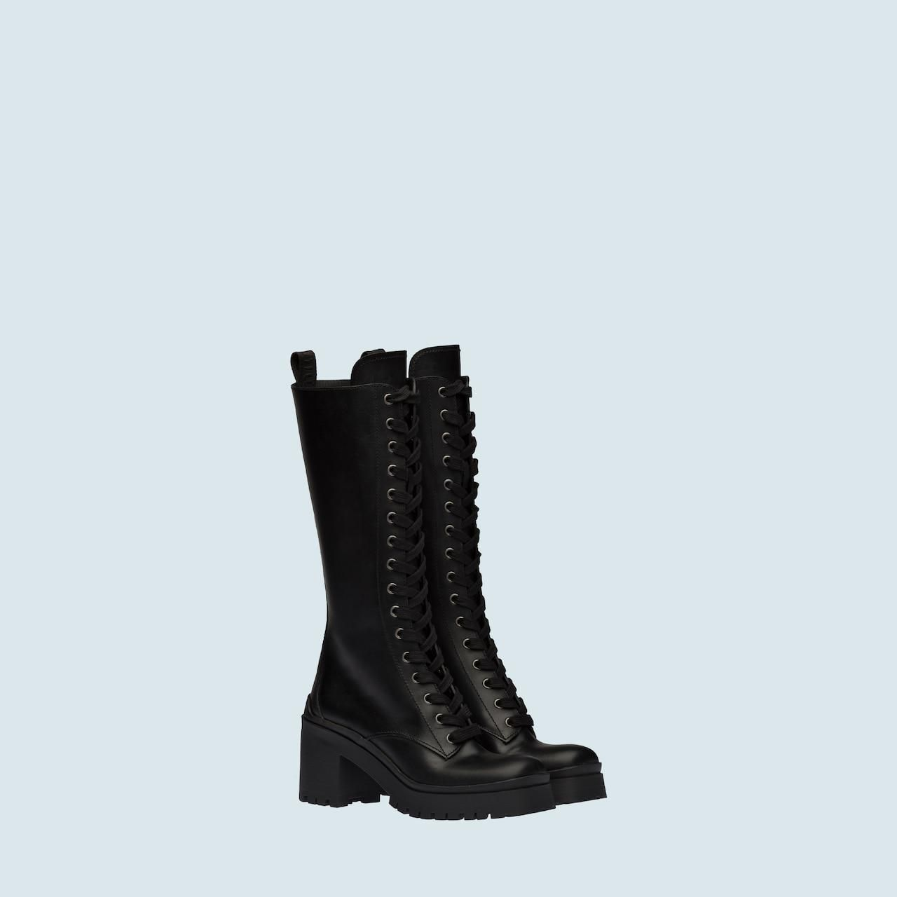 Laced Leather Boots