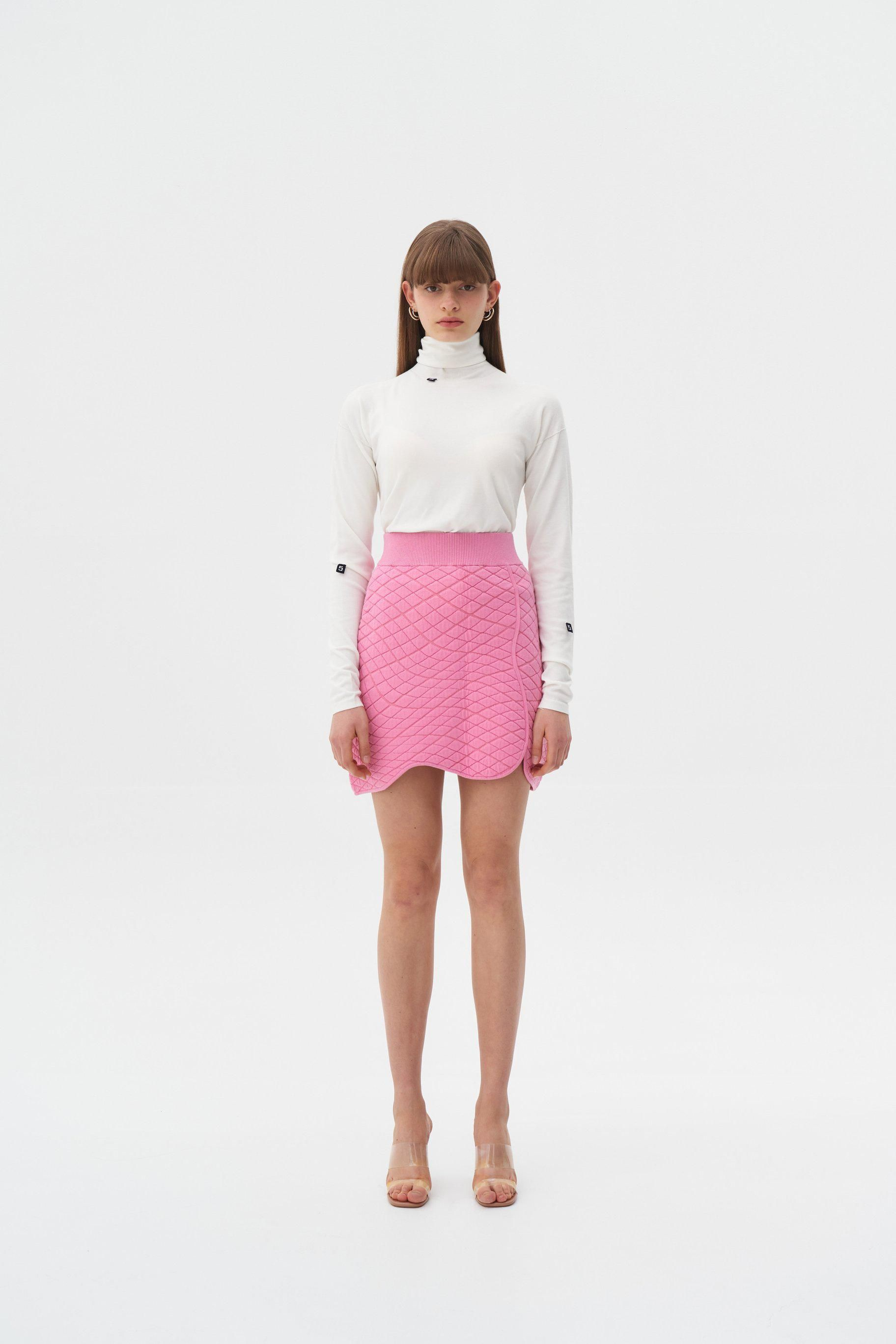 Hannah Pillow Stitch Eco Mini Skirt