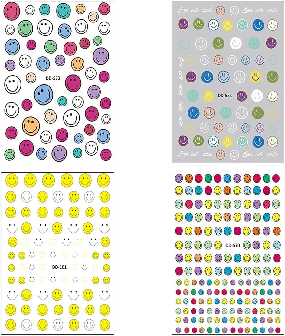 Smiling Face Nail Art Stickers