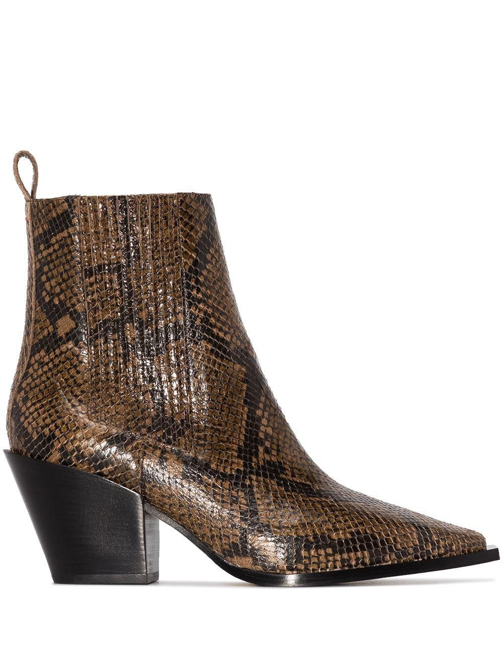 Kate 75mm Snakeskin Ankle Boots