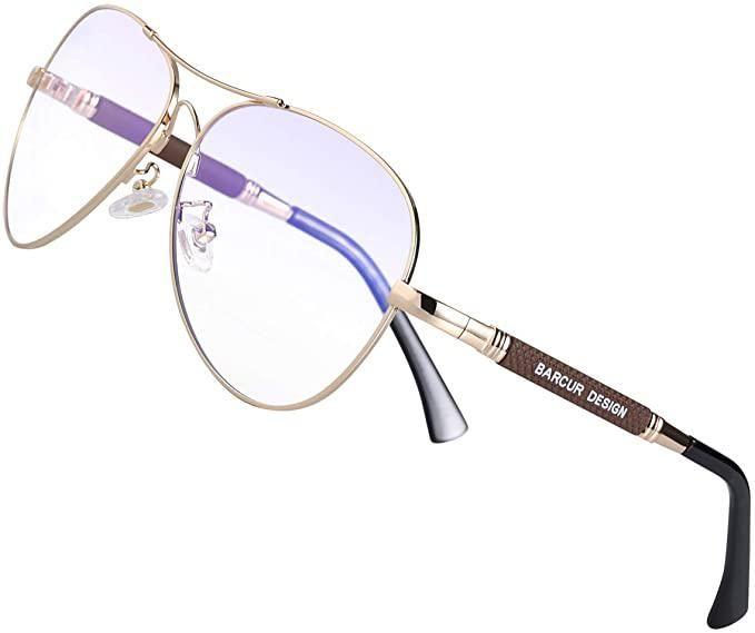 Flexible Aviator Blue Light Blocking Computer Glasses