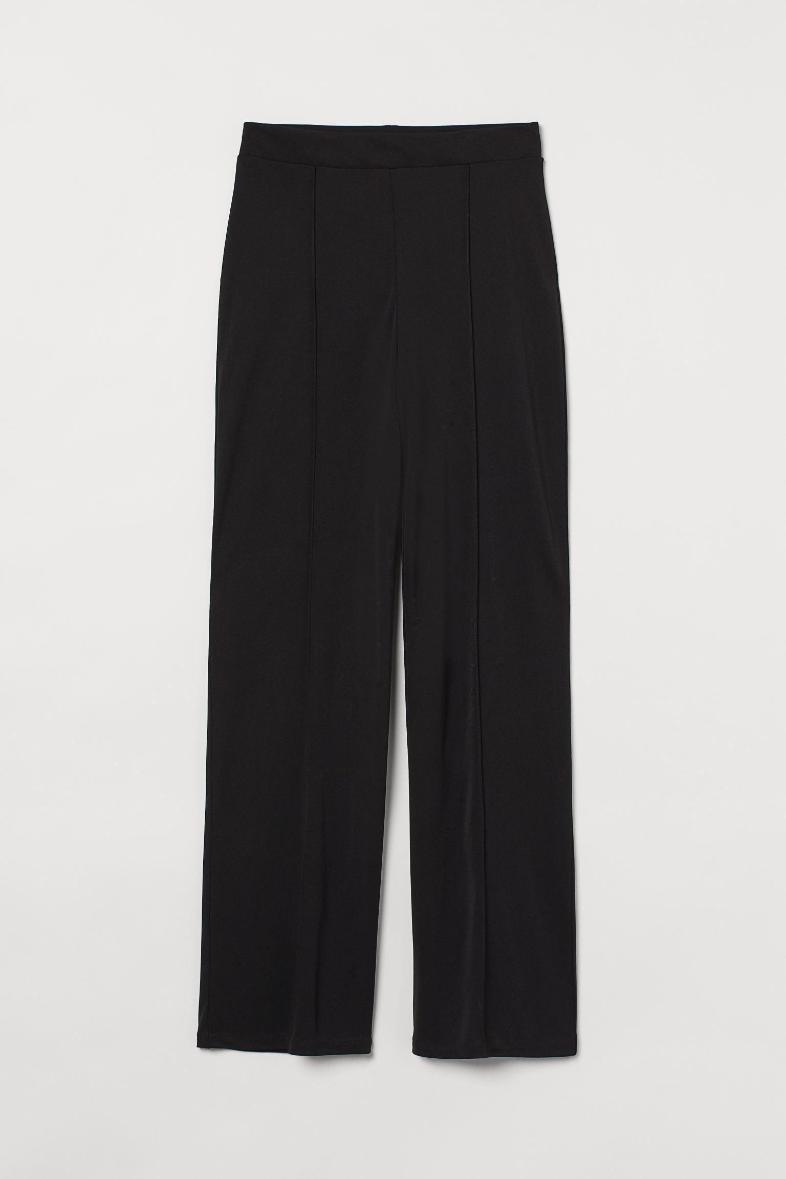 Wide-leg Creased Pants