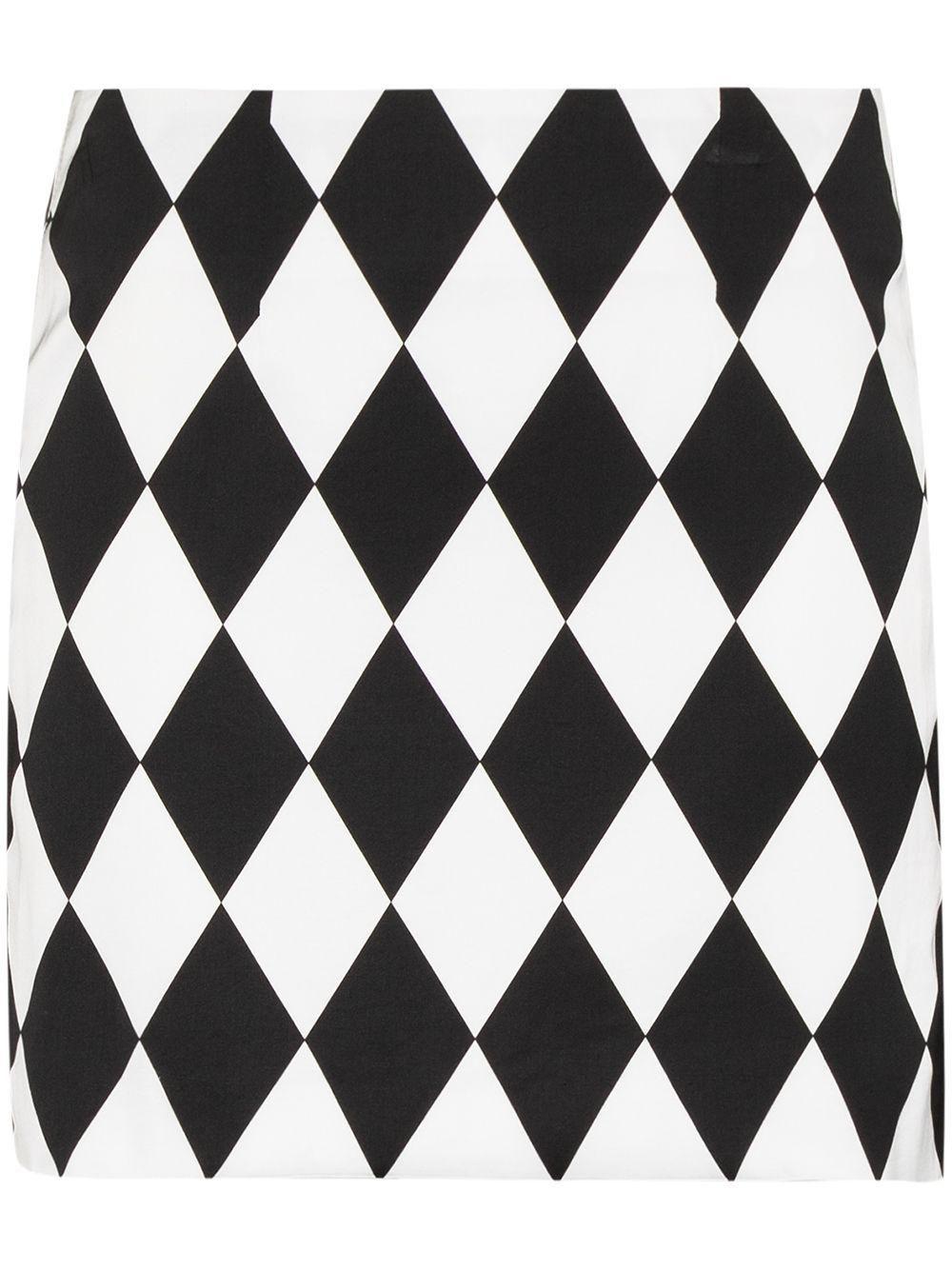 x Karl Lagerfeld Diamond Pattern Skirt