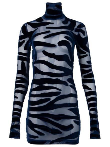 Tiger Print Cocktail Mini Dress