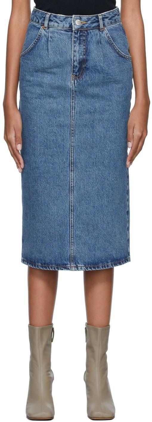 Blue Denim Faye Skirt