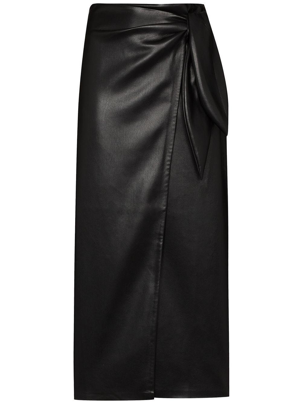 Amas Wrap-effect Midi Skirt